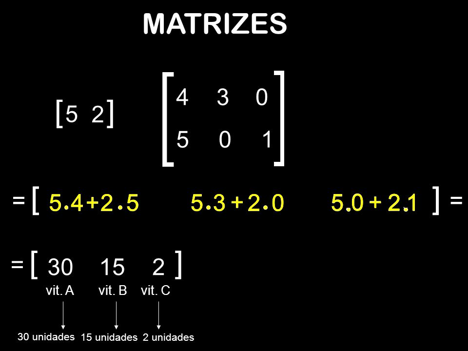 [ ] [ [ ] ] [ ] MATRIZES 4 3 5 2 5 1 = = 5 4 + 2 5 4 + 2 5 5 5 3 + 2 3